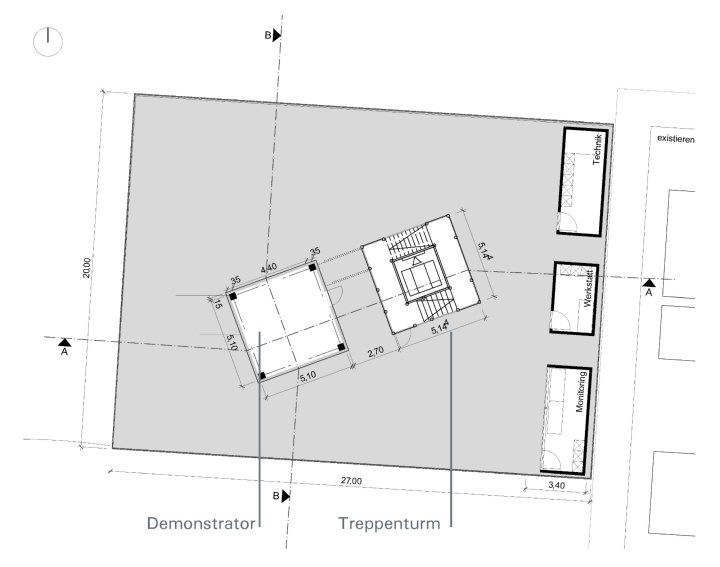 Floor plan Demonstrator Building (c) © ILEK