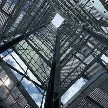 Treppenturm des Demonstrator-Hochhauses