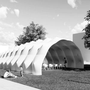 Pavillon in Ultraleichtbauweise