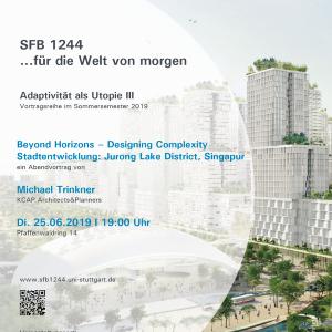 Michael Trinkner - Beyond Horizons – Designing Complexity,  Stadtentwicklung: Jurong Lake District, Singapur