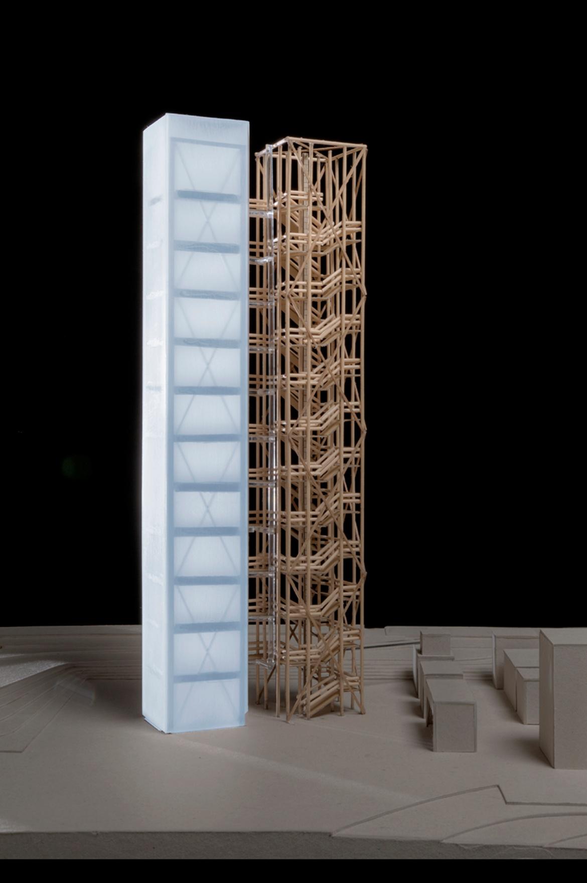 Modellaufnahme des DHH und Treppenturm