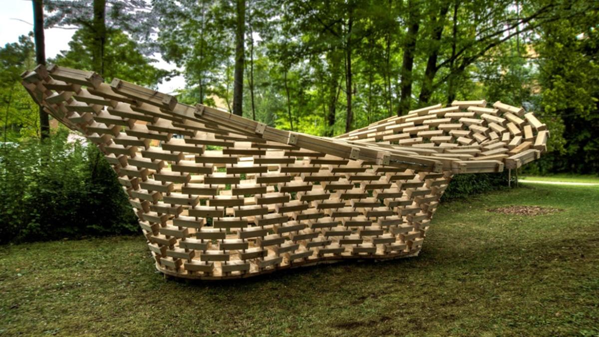 """""""Funicular Funnel Shell"""", Kooperation der Block Research Group (ETH Zürich) und des Institut für Leichtbau Entwerfen und Konstruieren (Universität Stuttgart)  (c) ILEK"""