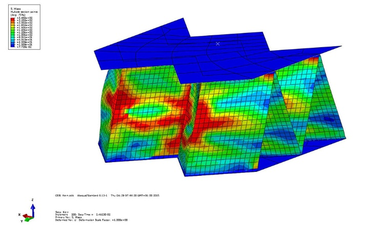 Finite-Element-simulation of a foldcore sandwich structure (c) IFB