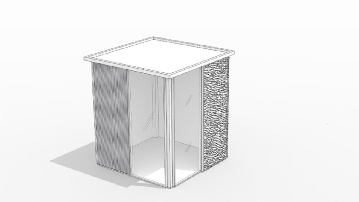 Testkammer zur Erprobung des ersten Prototyps