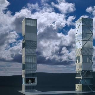 Modell des ersten adaptiven Hochhauses der Welt. Foto: Universität Stuttgart/ SFB 1244